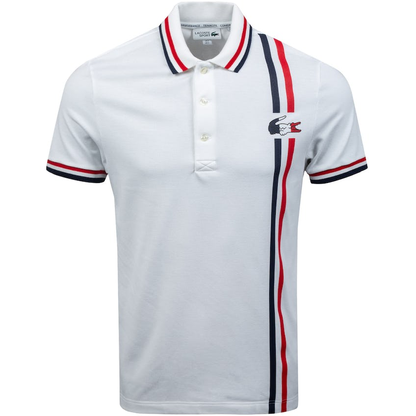 Olympic Collection Pique Polo White/Navy/Red 0