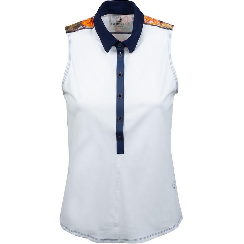 Womens Core 3.0 Printed Back Sleeveless Polo White/Navy/Fantasy Floral 0