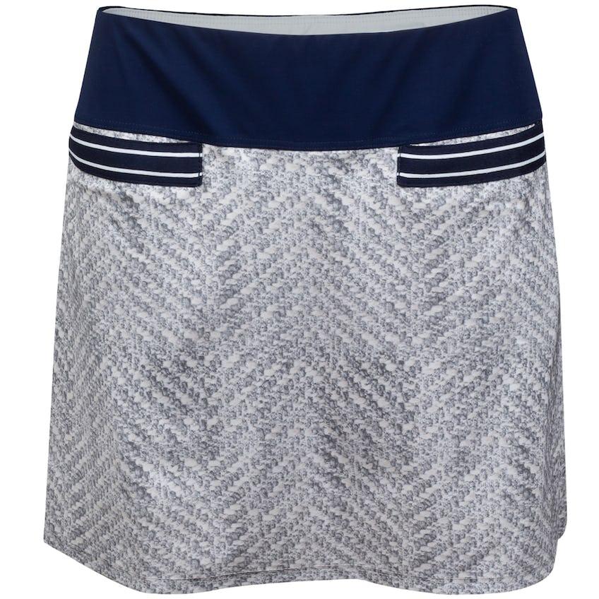 Womens High Society 2.0 Boucle Print Skirt Grey Boucle/Navy 0