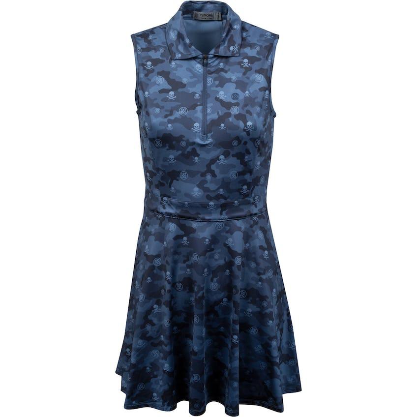 Womens Icon Camo Zip Polo Dress Twilight 0