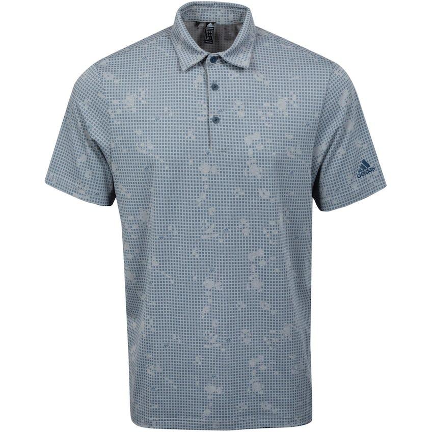 Primegreen Polo Shirt Grey Three Mel/Crew Navy 0