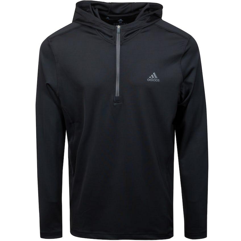 Primegreen Quarter Zip Hoodie Pullover Black 0
