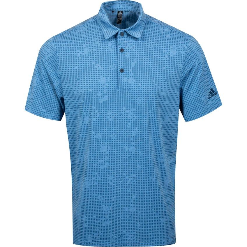 Primegreen Polo Shirt Focus Blue Mel/Crew Navy 0