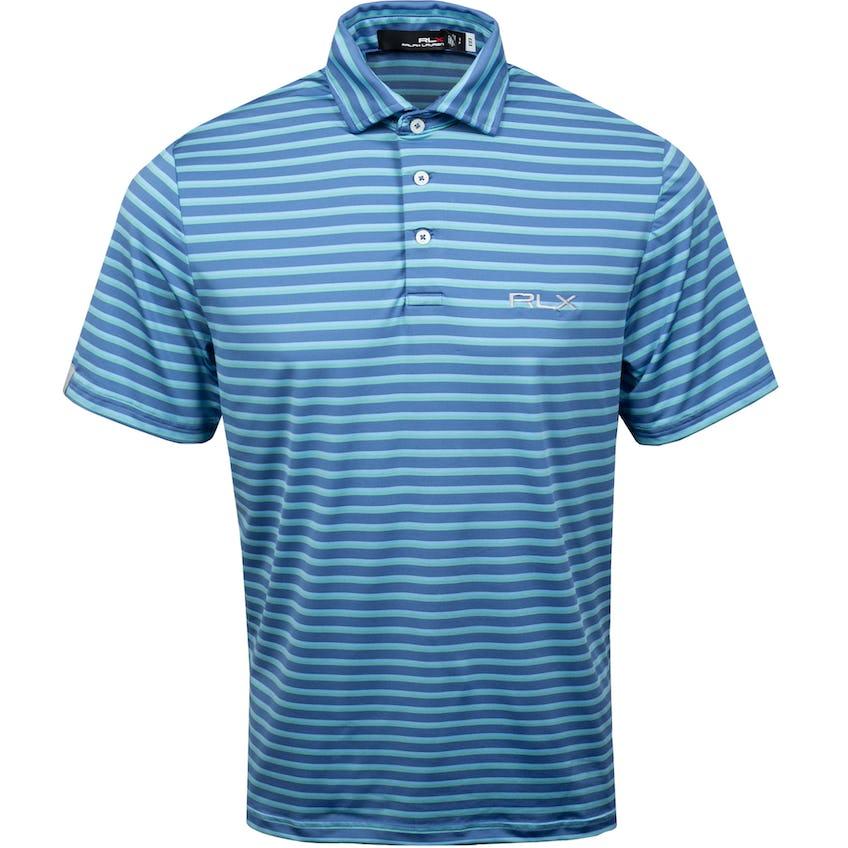 Yarn-Dye Featherweight Airflow Jersey Polo Bastille Blue Multi 0