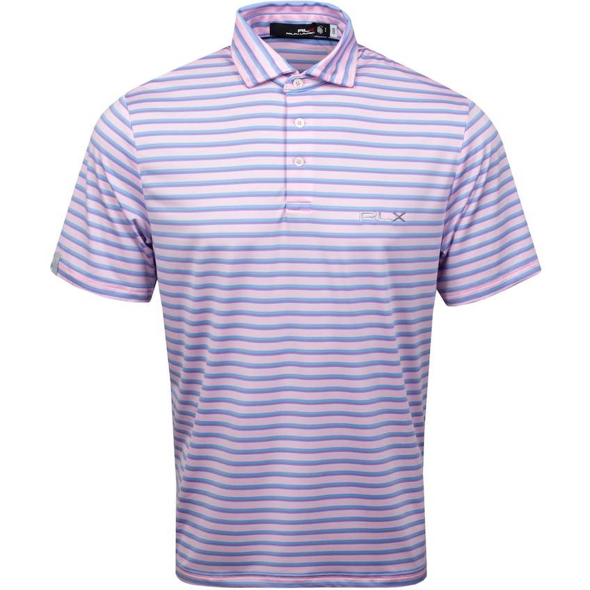 Yarn-Dye Featherweight Airflow Jersey Polo Carmel Pink Multi 0