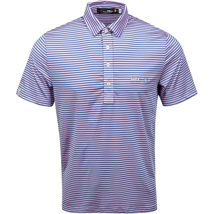 Short-Sleeve Airflow Stripe Carmel Pink/Bastille Blue 0