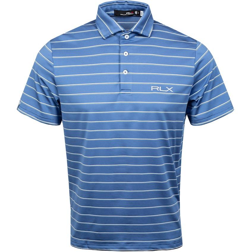 Yarn-Dye Lightweight Airflow Jersey Polo Bastille Blue Multi 0