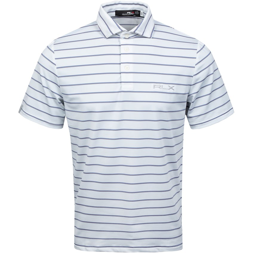 Yarn-Dye Lightweight Airflow Jersey Polo Pure White Multi 0