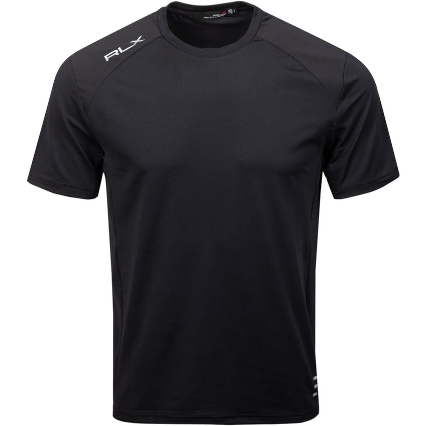 Peached Lightweight Airflow Crewneck T-Shirt Polo Black 0