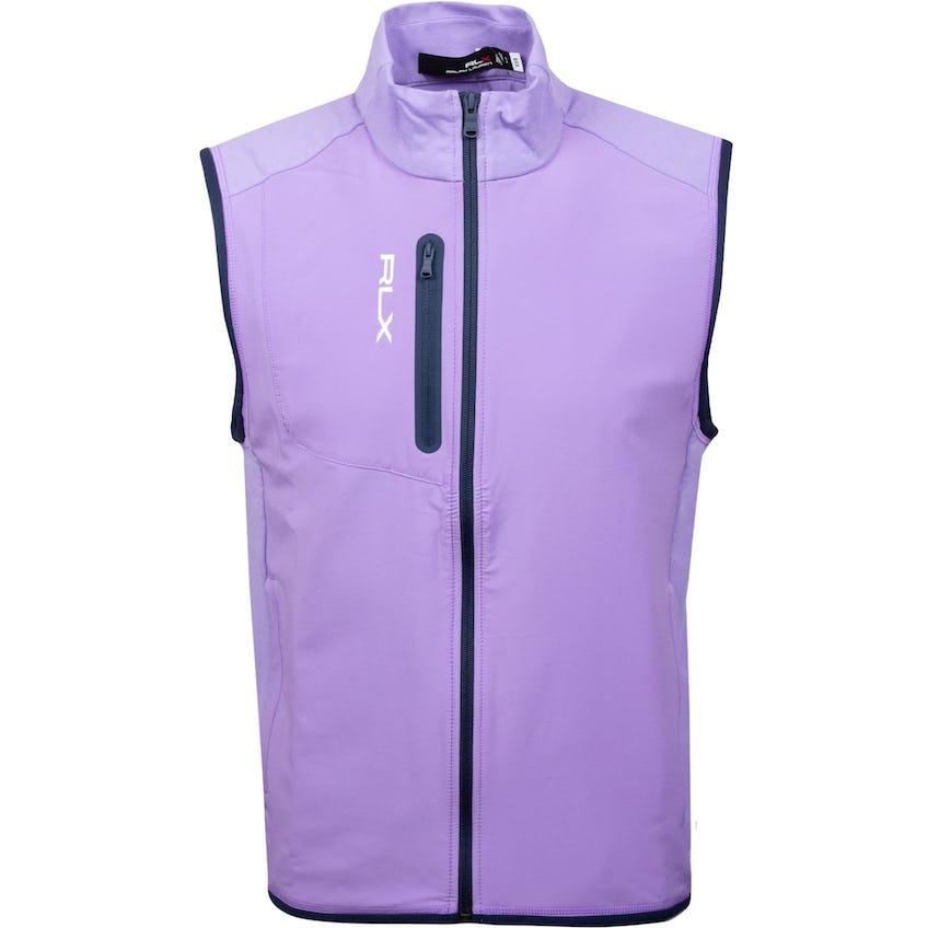 Solid Full-Zip Tech Terry Vest Purple Martin 0