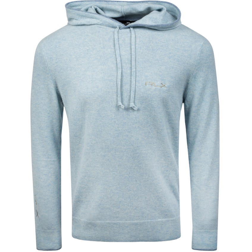 Long-Sleeve Washable Cashmere Hoodie Chambray Heather 0