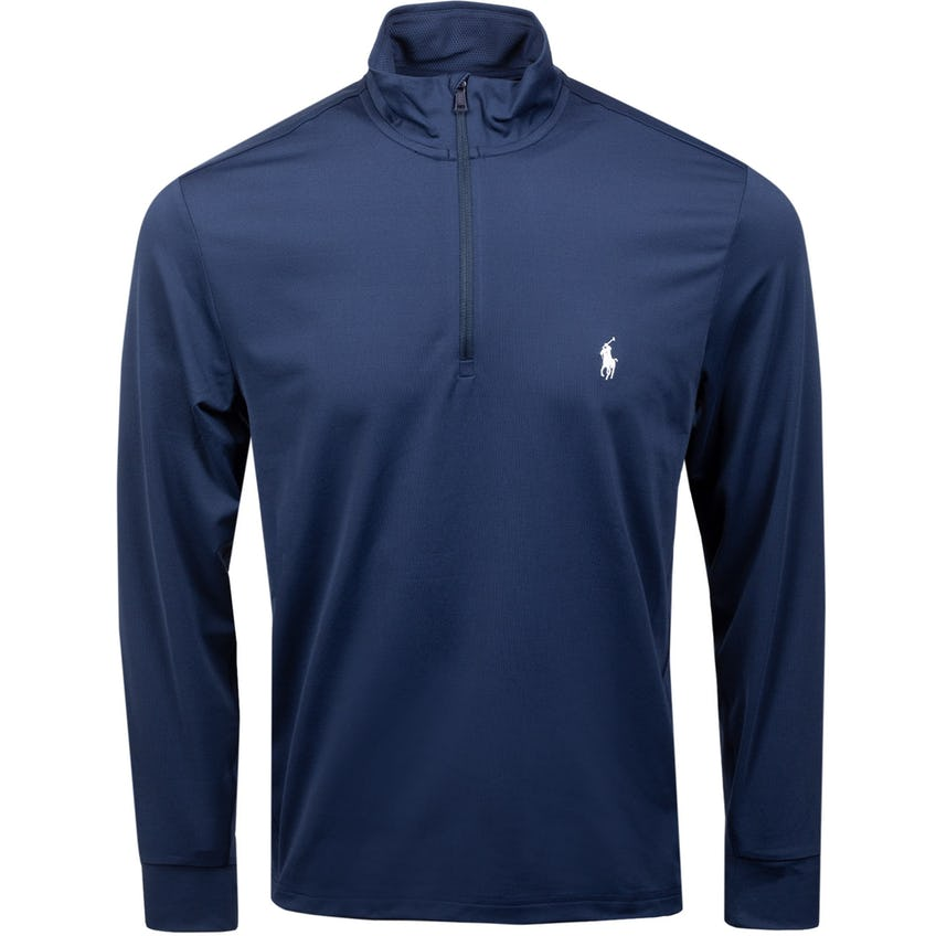 Solid Stretch Peached Jersey Half-Zip French Navy 0
