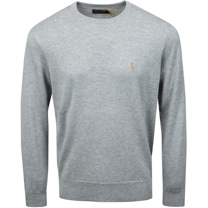 Long-Sleeve Cashmere/Coolmax Sweater Golf Light Grey Heather 0
