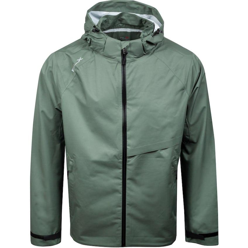 Deluge Lightweight Rain Jacket Fossil Green 0