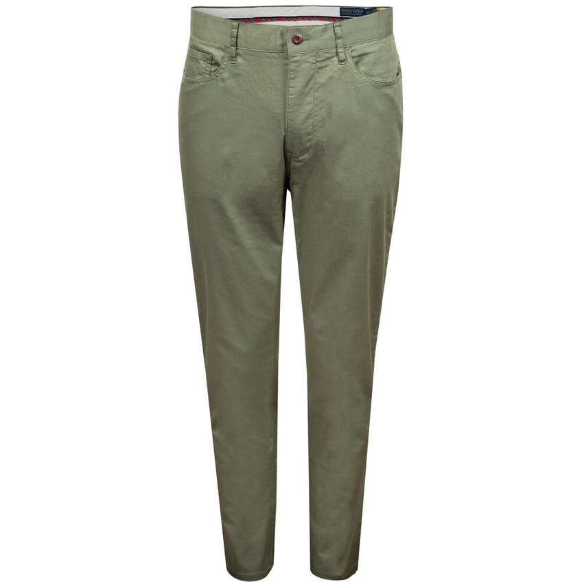 Tailored Fit 5-Pocket Performance Chino Pant Fossil Green 0