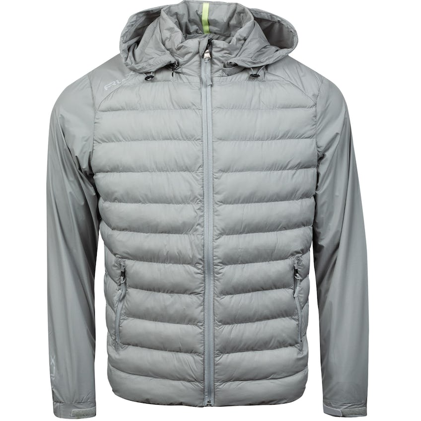 Full-Zip Packable Thermoplume Filled Hoodie Soft Grey 0