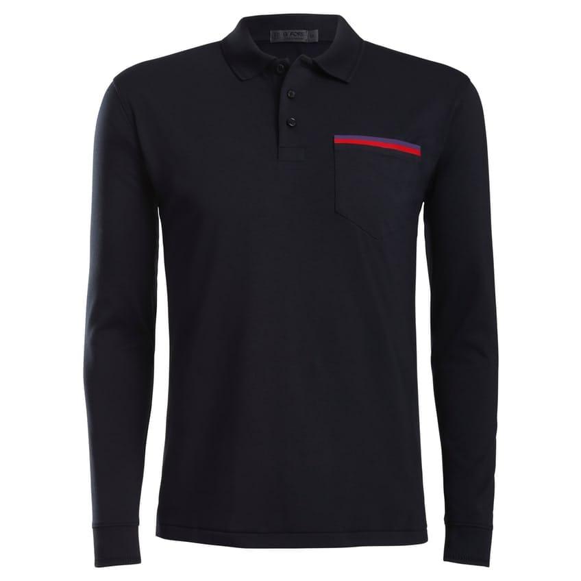 Luxe Long Sleeve Polo Onyx 0