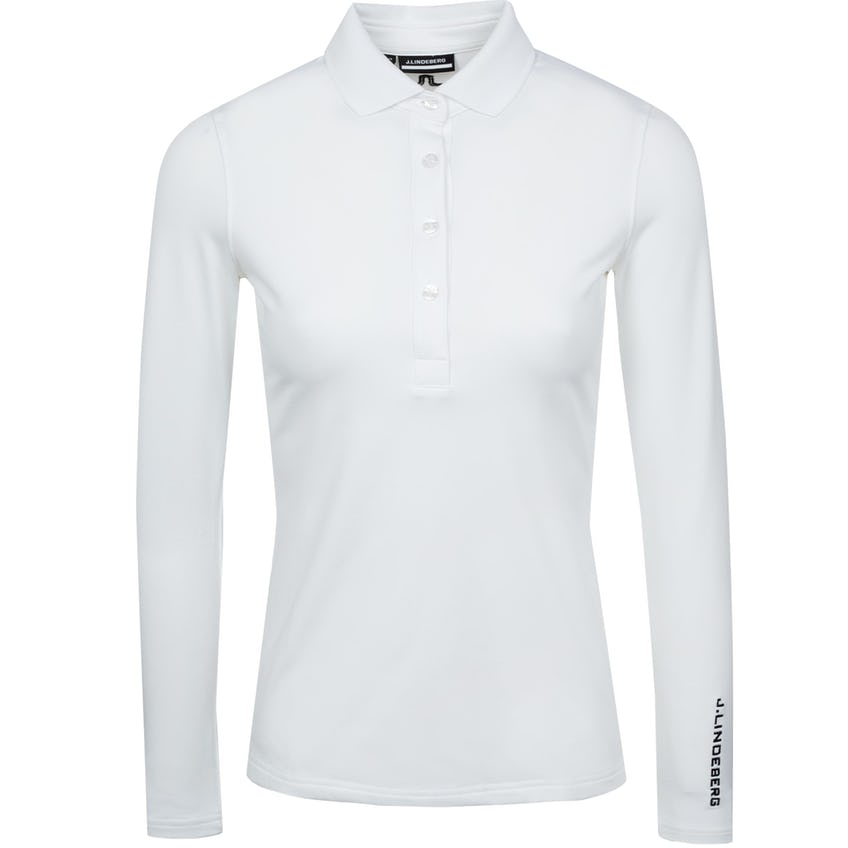 Womens Tour Tech LS Golf Polo White 0
