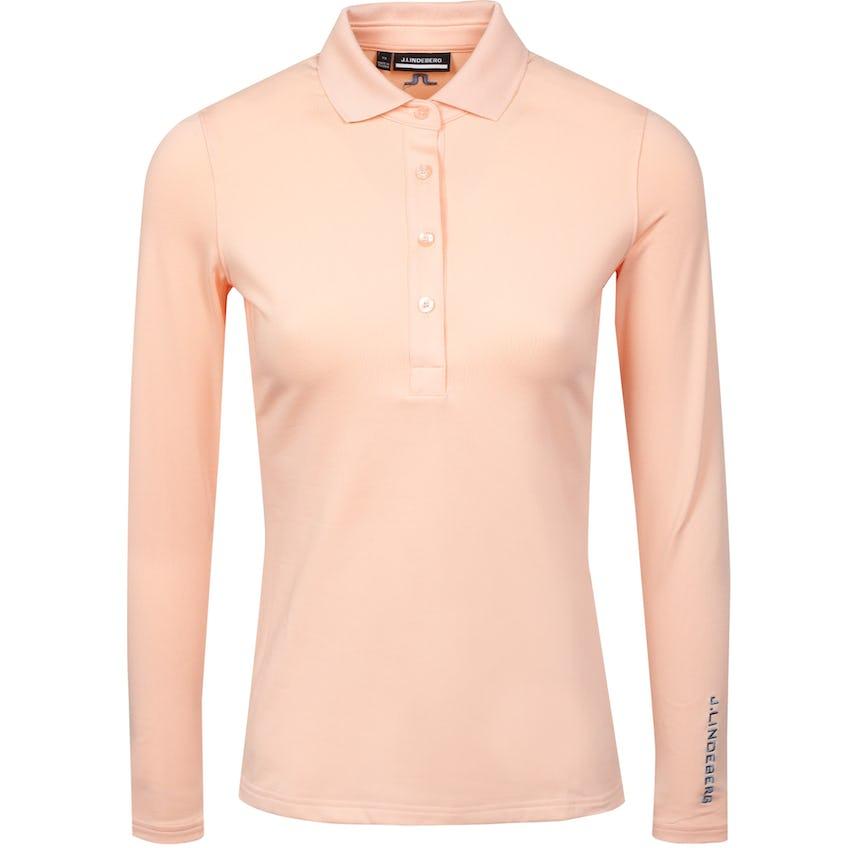 Womens Tour Tech LS Golf Polo Pale Pink 0