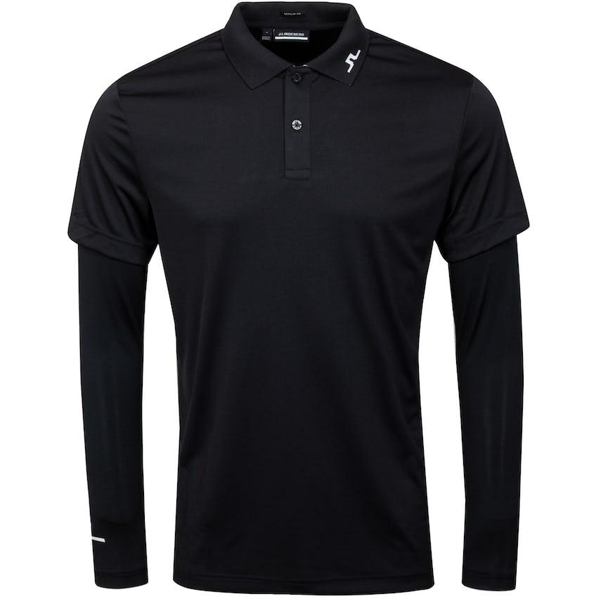 Leon Regular Fit Ls Golf Polo Black 0