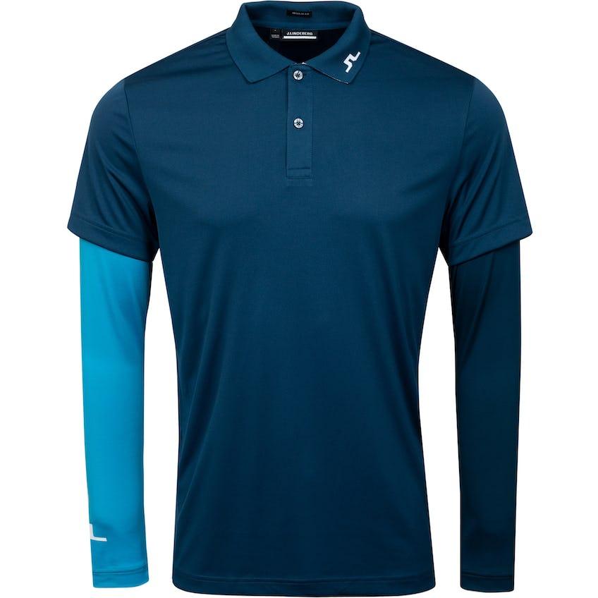 Leon Regular Fit Ls Golf Polo Majolica Blue 0