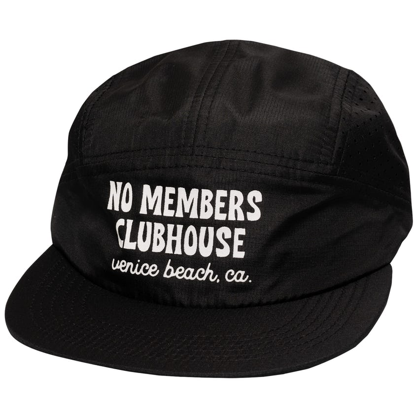 Clubhouse Five Panel Cap Black 0