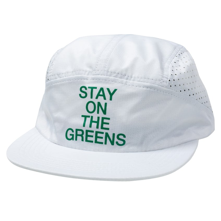 Stay On The Greens Five Panel Cap White 0