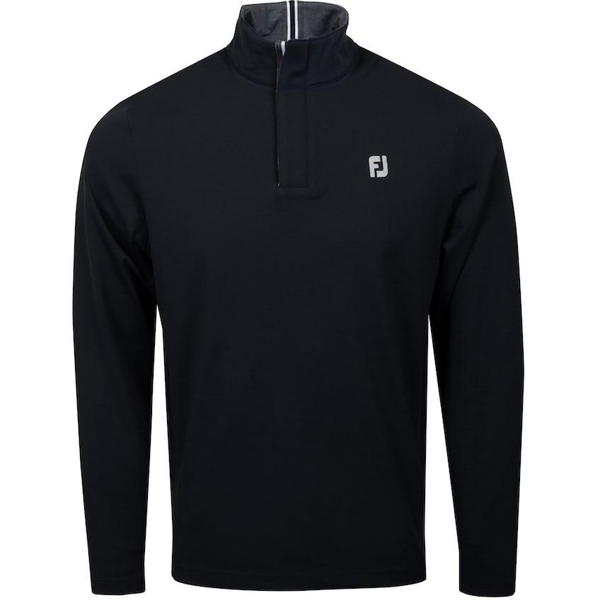 Stretch Jersey Quarter Zip Black 0