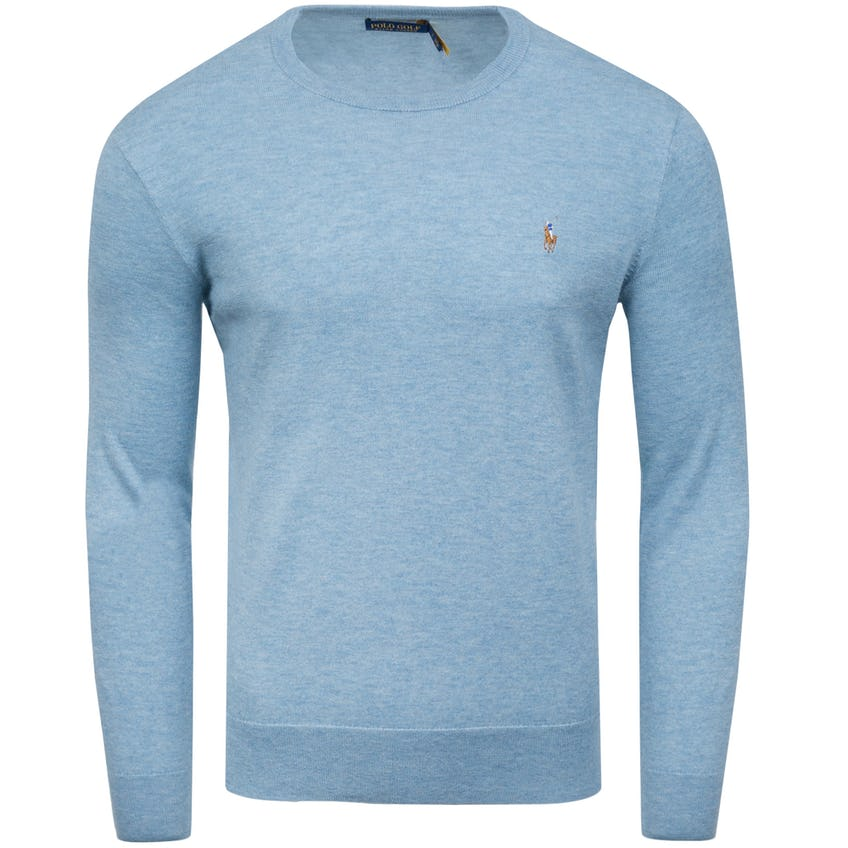 Long-Sleeve Cashmere/Coolmax Sweater Chambray Heather 0