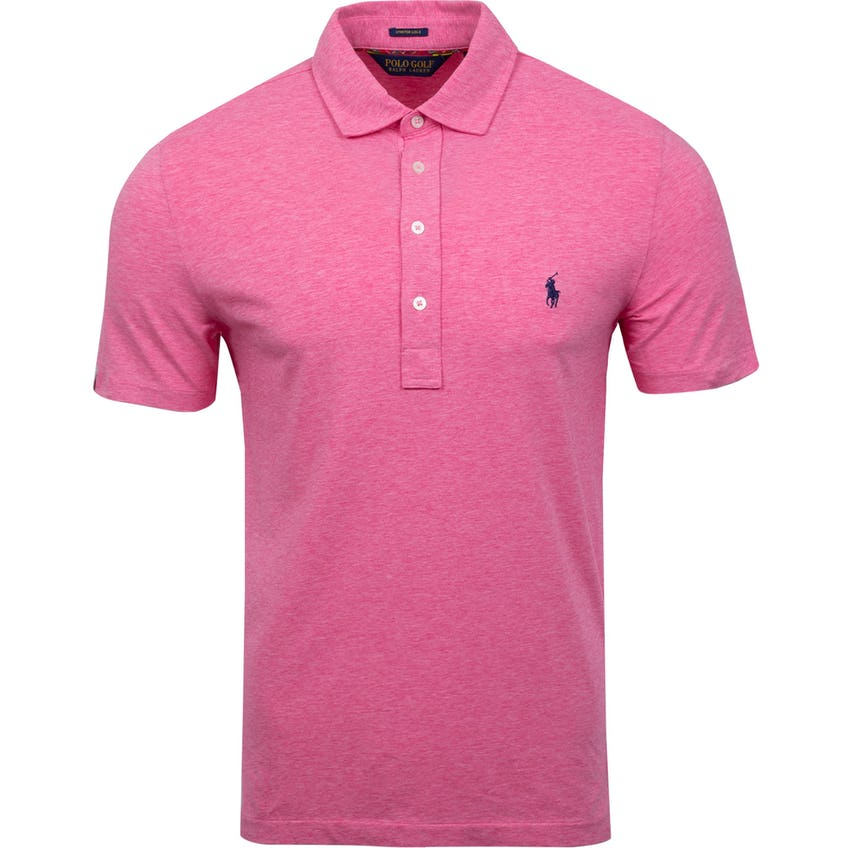 Solid Stretch Vintage Lisle Polo Wine Rose Heather 0