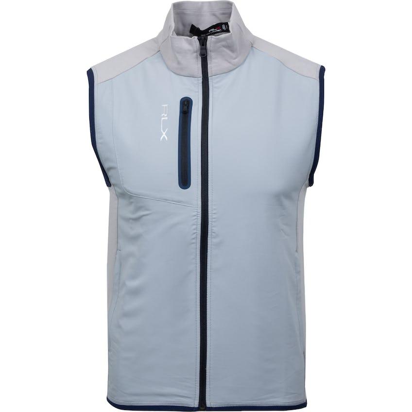Solid Full-Zip Tech Terry Vest Soft Grey 0