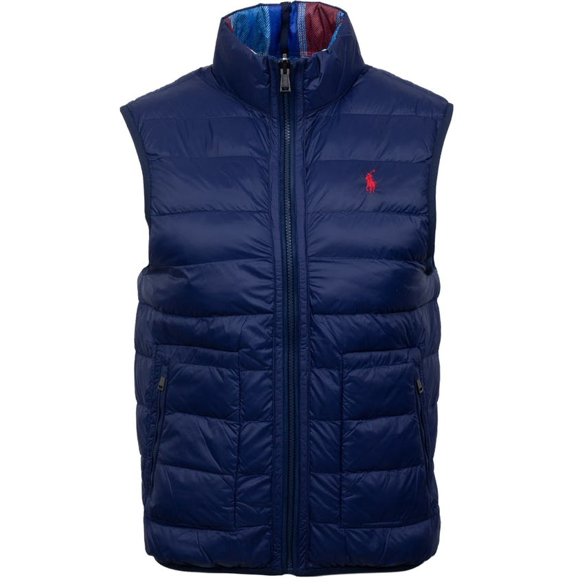 Reversible Filled Vest Match Plaid/French Navy 0