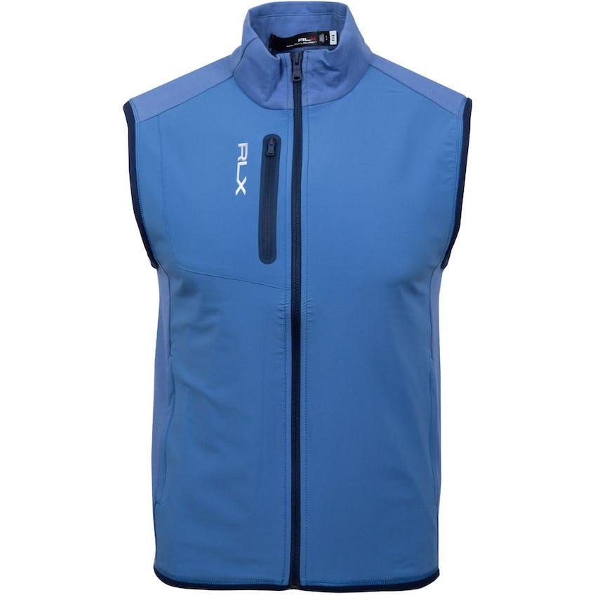 Solid Full-Zip Tech Terry Vest Bastille Blue 0