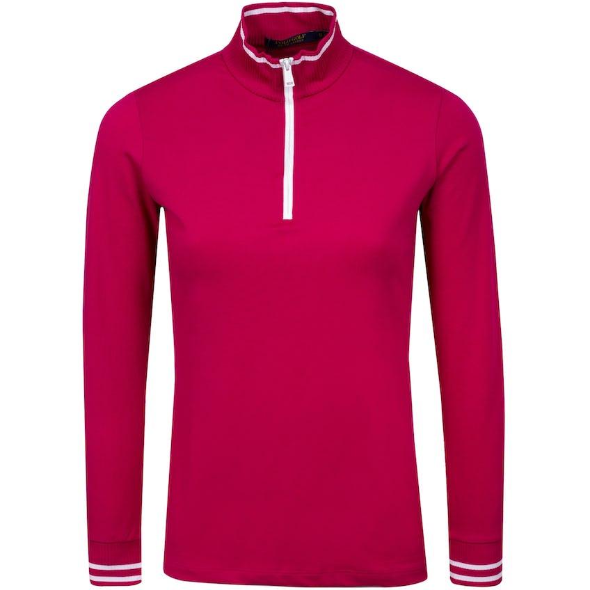 Womens LS Extreme Jersey Quarter Zip Mockneck Aruba Pink Multi 0