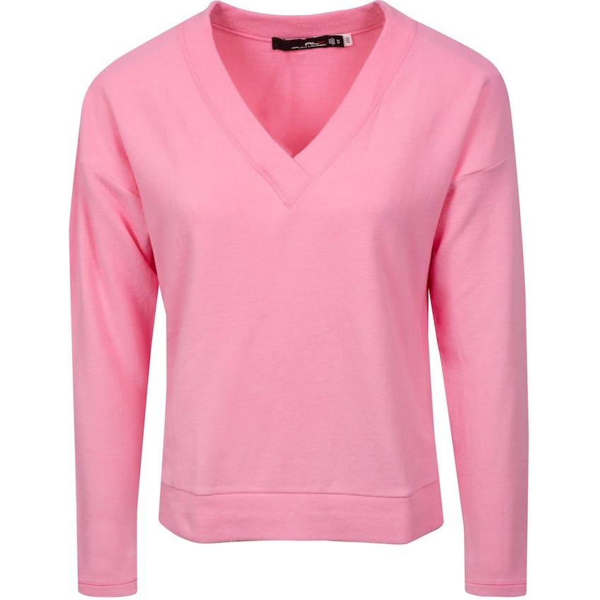 Womens Cloud Fleece V-Neck Pullover Neon Pink 0