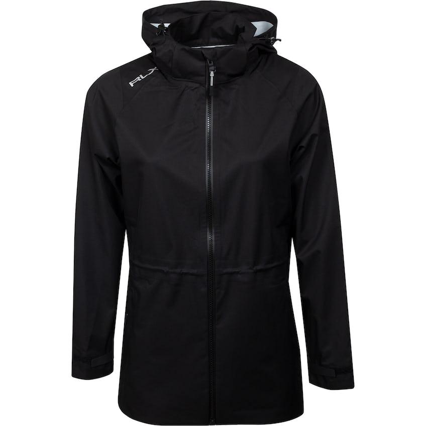 Womens Deluge Lightweight Rain Jacket Polo Black 0
