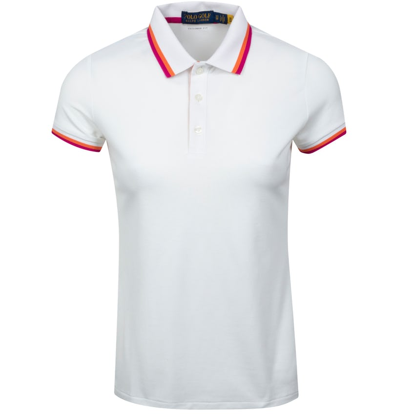 Womens SS Performance Pique Val Polo Pure White Multi 0