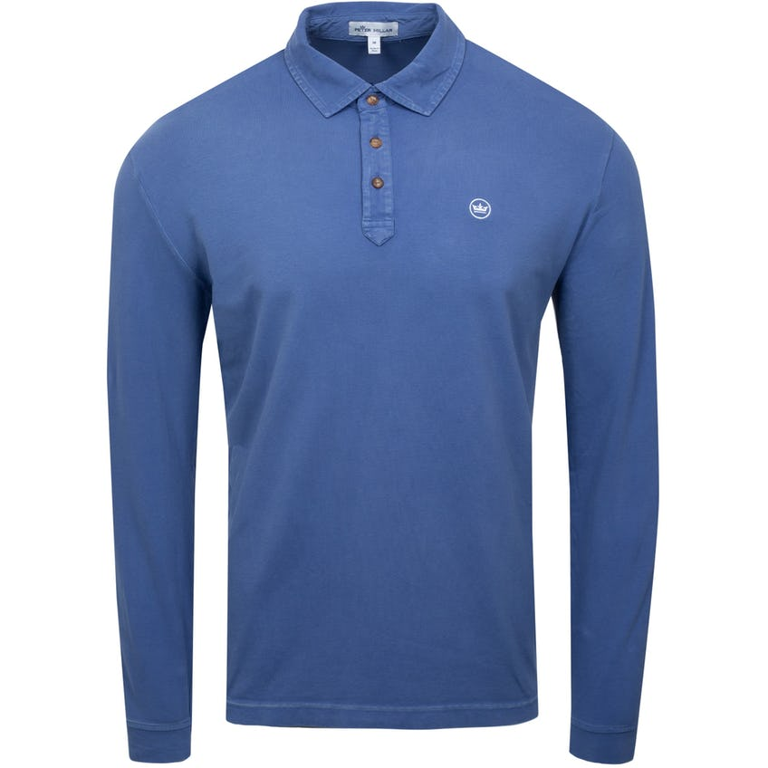 Lava Wash Jersey Long Sleeve Polo Astral Blue 0