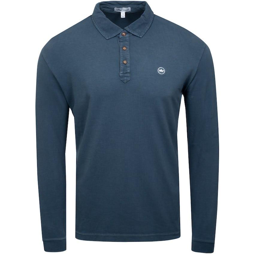 Lava Wash Jersey Long Sleeve Polo Iron 0