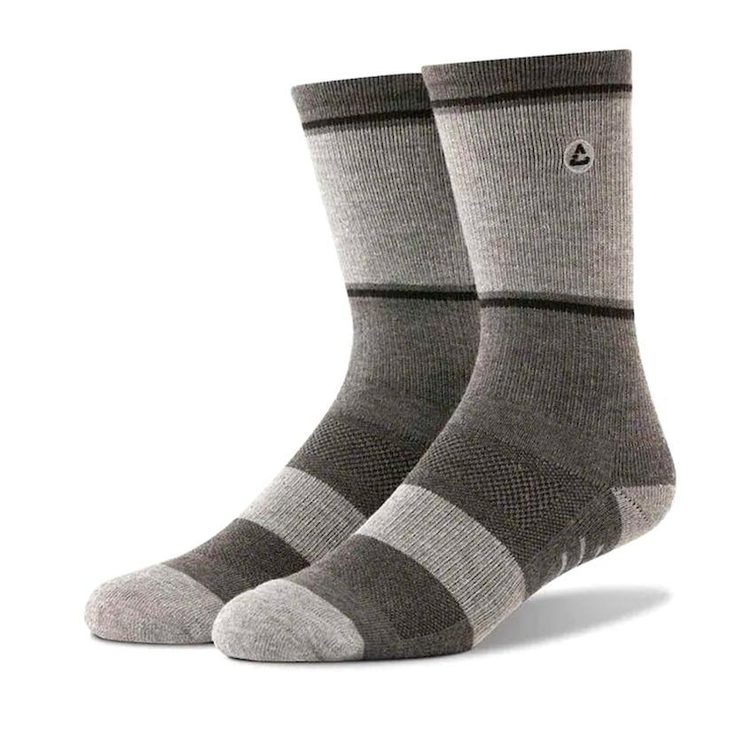 Baja Sock Heather Grey Pinstripe 0