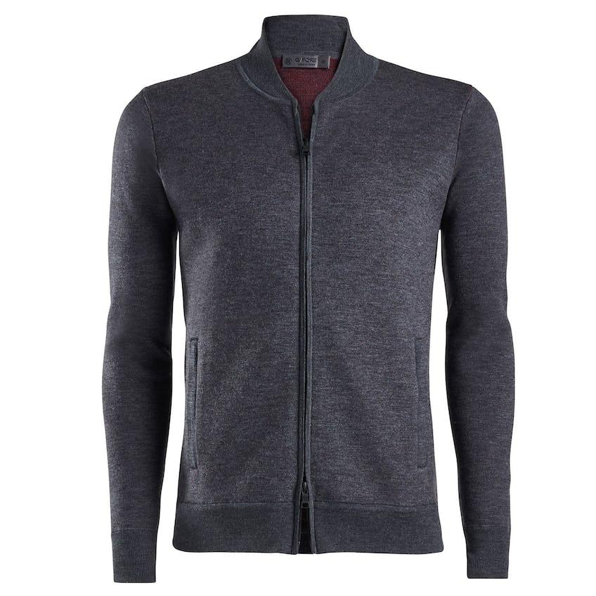 Knit Bomber Jacket Charcoal Grey 0