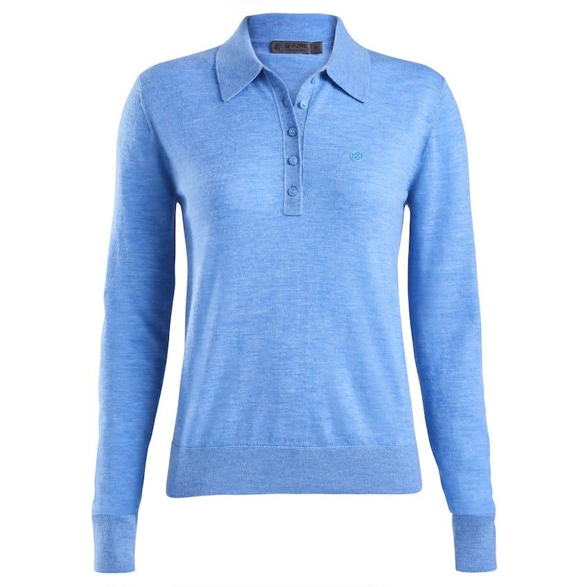 Womens Featherweight Polo Sweater Tulum 0