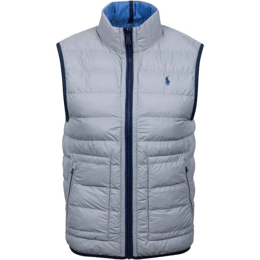 Reversible Filled Vest Light Grey Heather/Bastille Blue 0