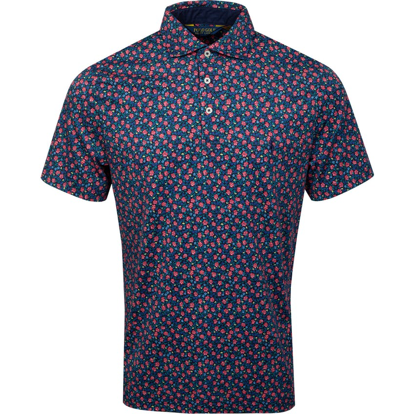 Printed Pima Jersey Polo French Navy Sunrise Floral 0