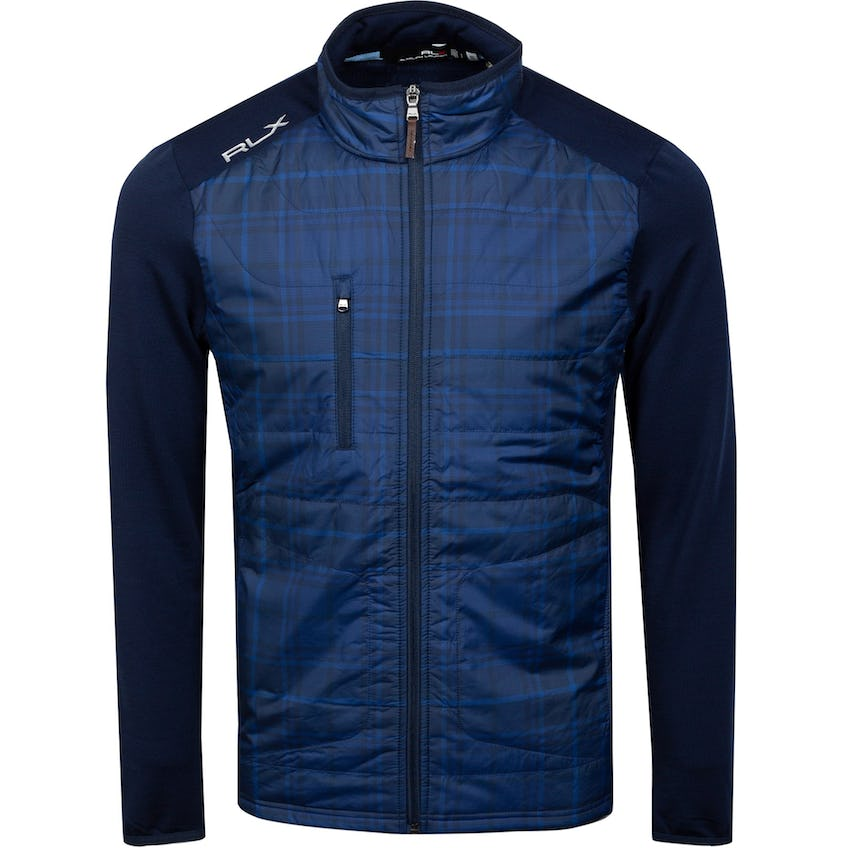 Printed Full-Zip Coolwool French Navy/Printed Woven 0