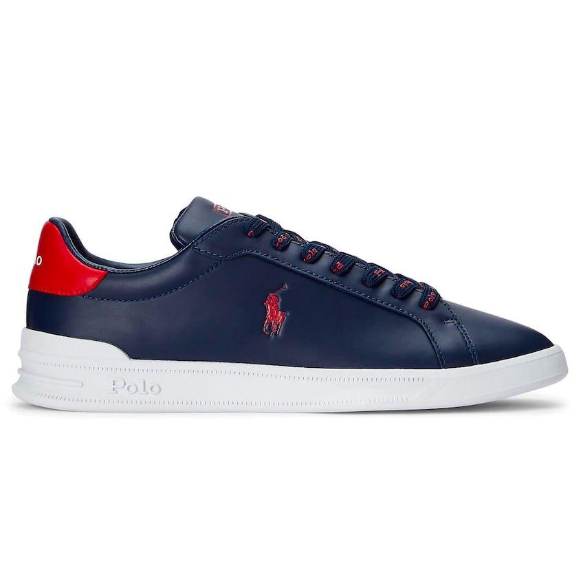 Heritage Court II Nappa Leather Sneaker Newport Navy/Red 0