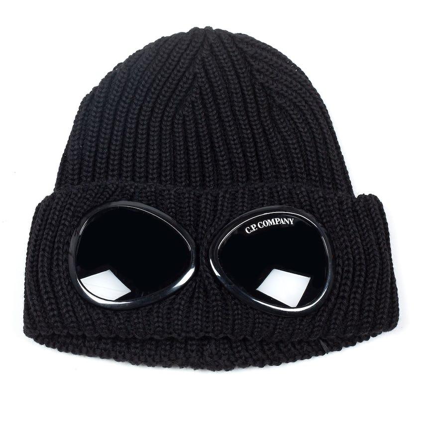 Extra Fine Merino Wool Goggle Beanie Black 0