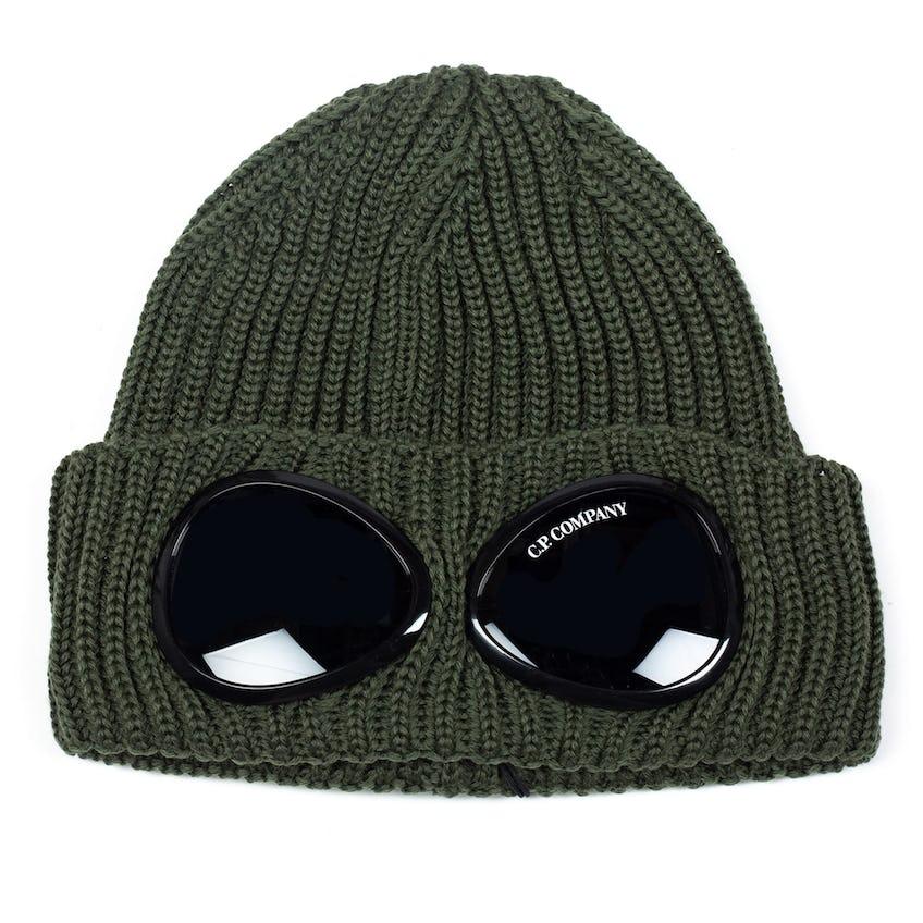 Extra Fine Merino Wool Goggle Beanie Stone Grey 0