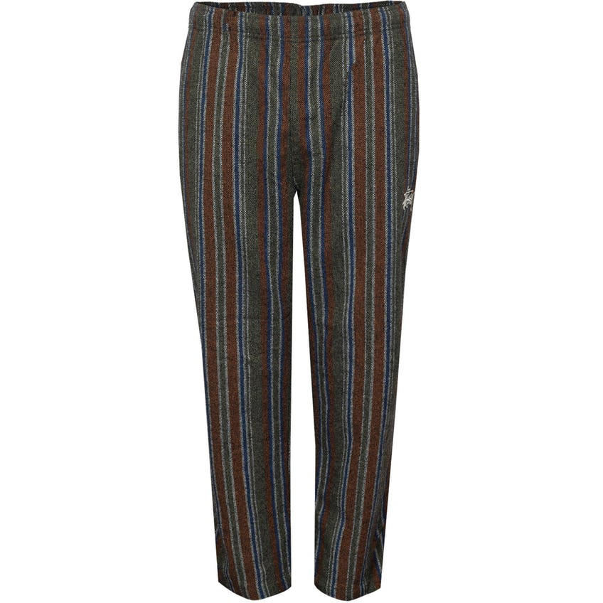Wool Stripe Relaxed Pant Olive 0