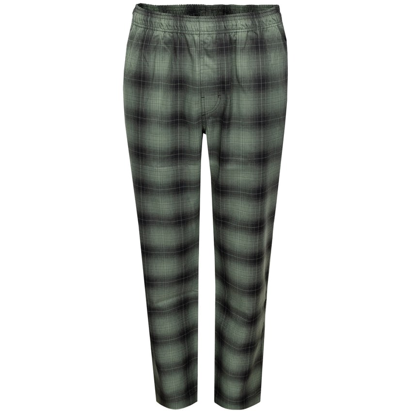 Shadow Plaid Relaxed Pant Olive 0